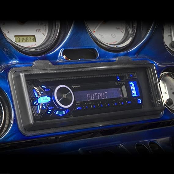 Custom Install Parts Waterproof Splash Guard Radio Cover CD//Receiver Adapter Kit Clear Compatible with Harley Davidson