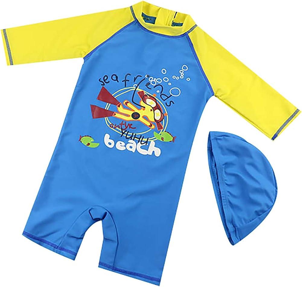 Achiyi Baby Boys One Piece Swimsuits Bathing Suits Sun Protection UPF50 Swimwear Sunsuits Quick Dry Rash Guard Surf Oufits