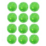 40mm Green Airflow Plastic Golf Practice Ball,pack of 12pcs