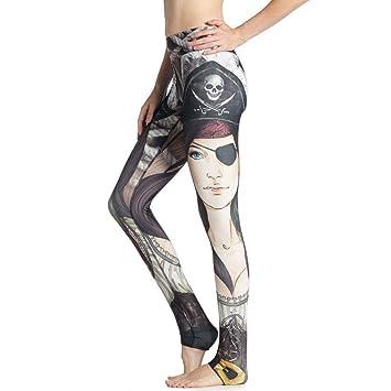 SYPNB Pantalón de Yoga Puntos para Mujer Pantalón Delgado ...