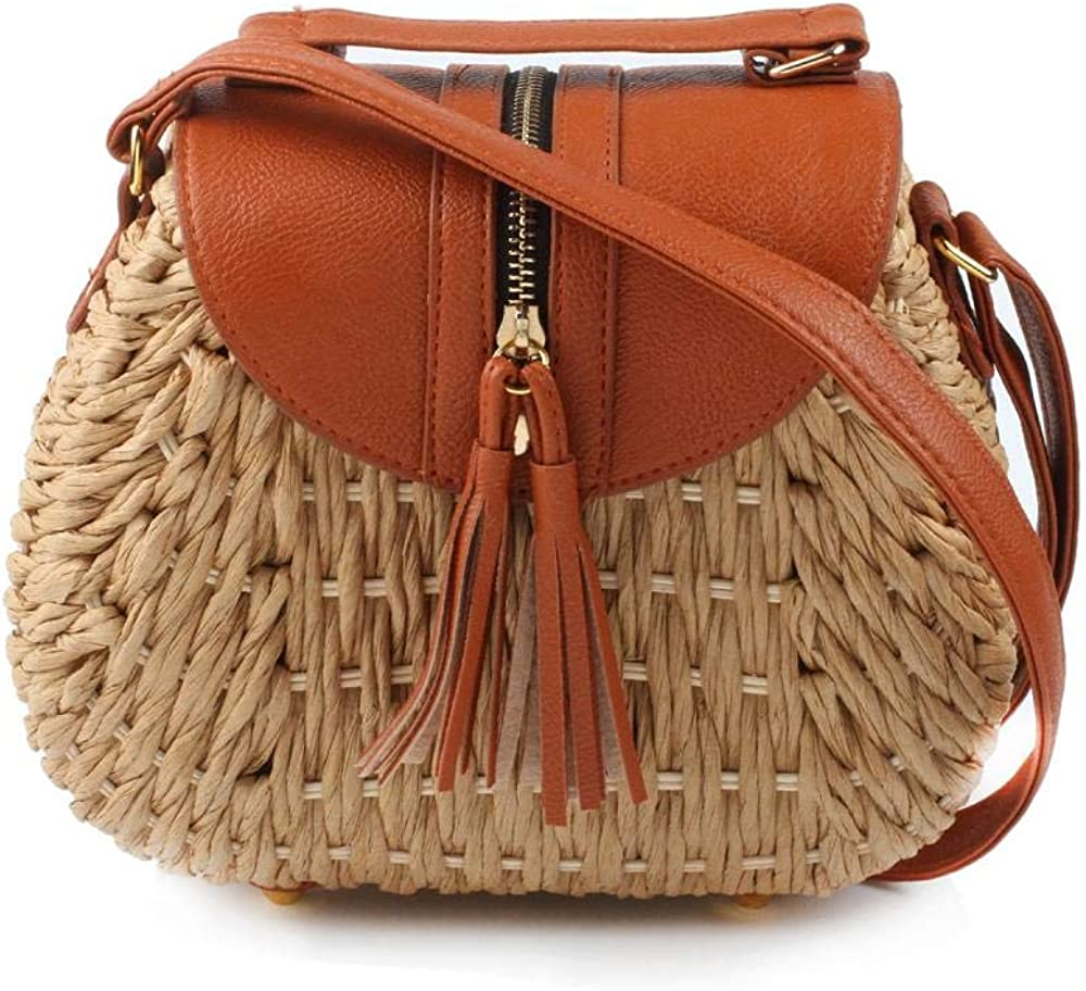 Triangle wicker straw bag wicker straw bag wicker bag moroccan hand woven cross body bag raffia bag with leather handles for women