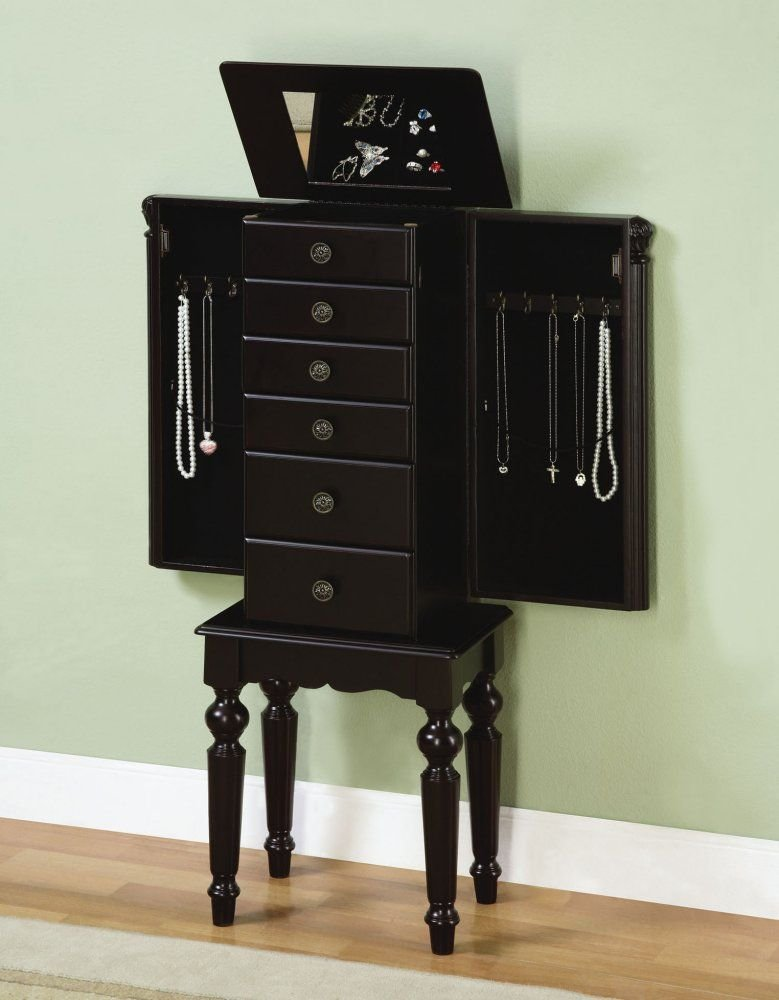 Amazoncom Powell Ebony Jewelry Armoire Kitchen Dining