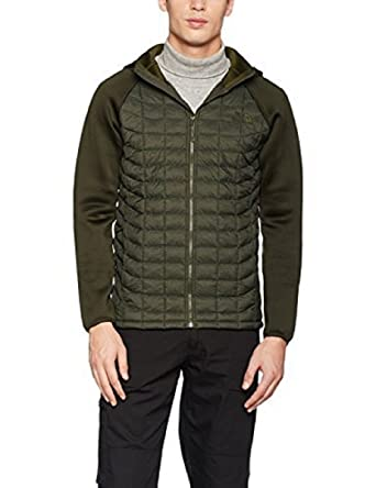 63cb516a528f The North Face Men's upholder Thermoball Hybrid Hoodie/Jacket Green/Rosin  Green Stripe/