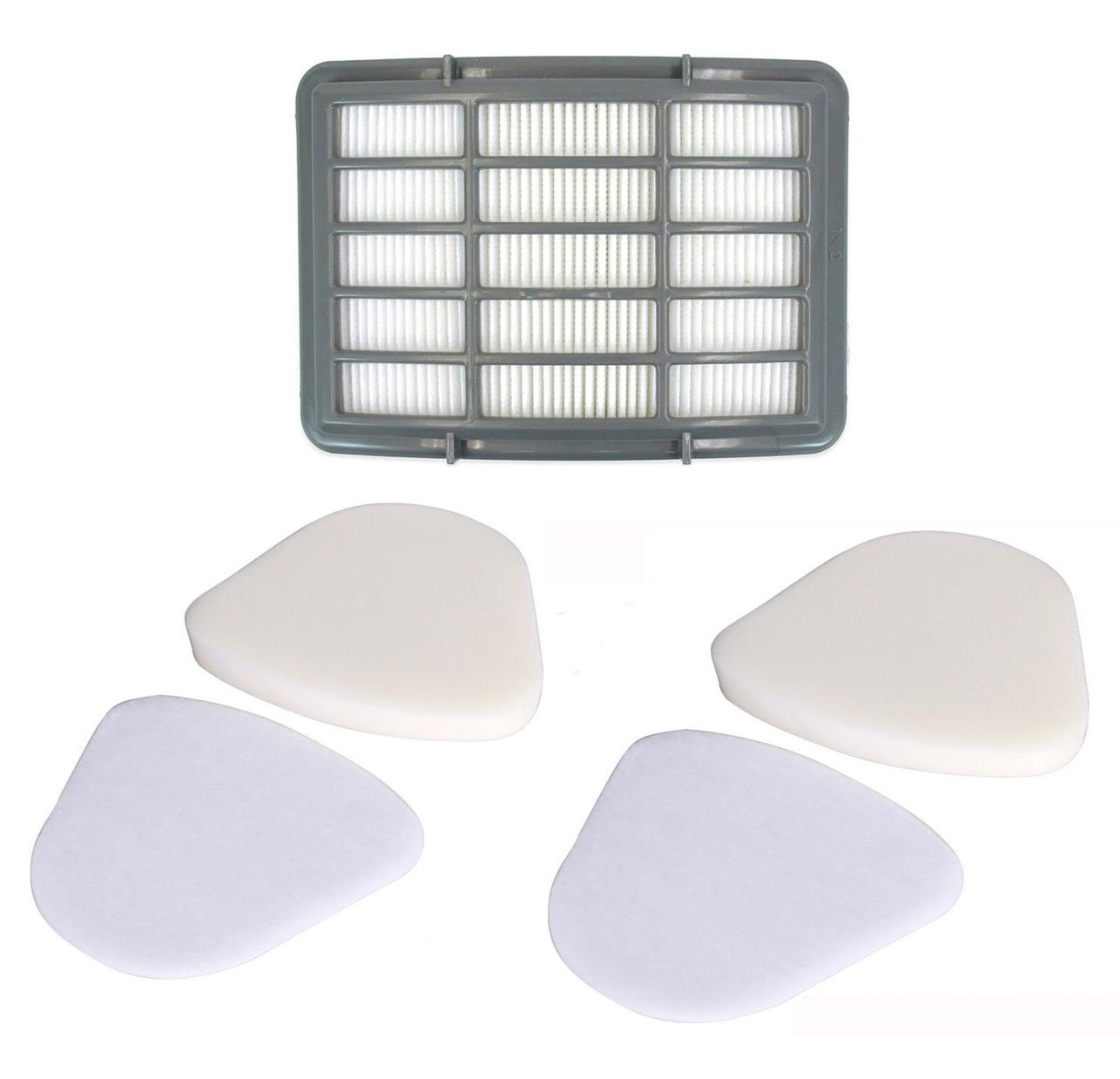 Foam and Felt Filter for Shark Navigator Lift-Away NV352 Pro NV356E NV350 Replacement Filter Set for NV370 NV391 Deluxe UV440 Washable & Reusable Resplace Part# XFF350