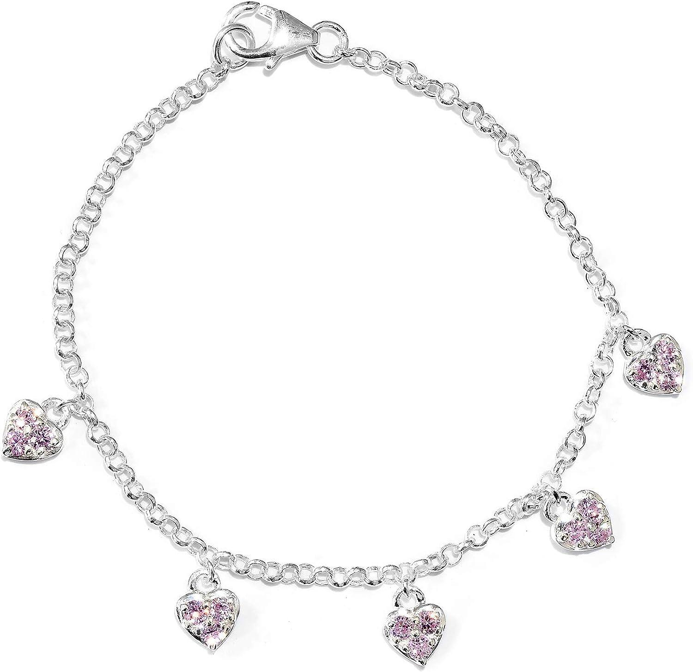 Heart Charms Bracelet 925...