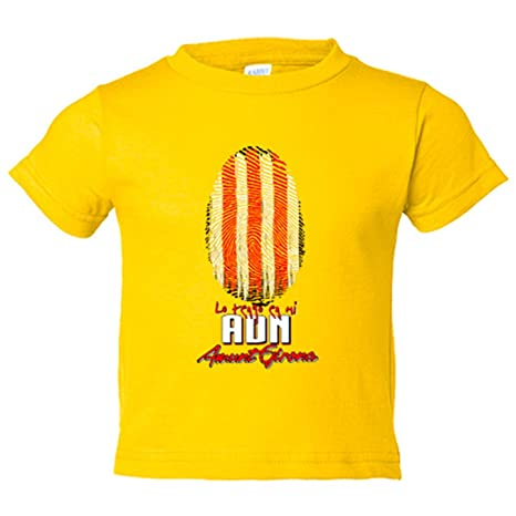 Camiseta niño lo tengo en mi ADN Girona fútbol - Amarillo, 3-4 años