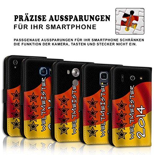 Wallet Book Style Flip Handy Tasche Case Schutz Hülle Schale Motiv Etui für Apple iPhone 6 Plus / 6S Plus - Design Flip MVD380