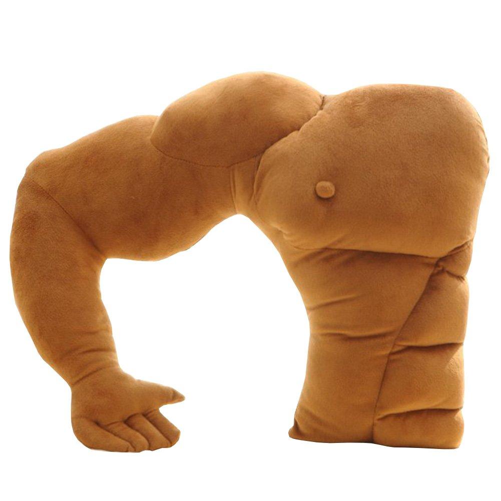 Muscle Man Pillow, Husband Body Arm Soft Plush Cotton Pillow Unique Gift for Women, 22.8''×18.9''