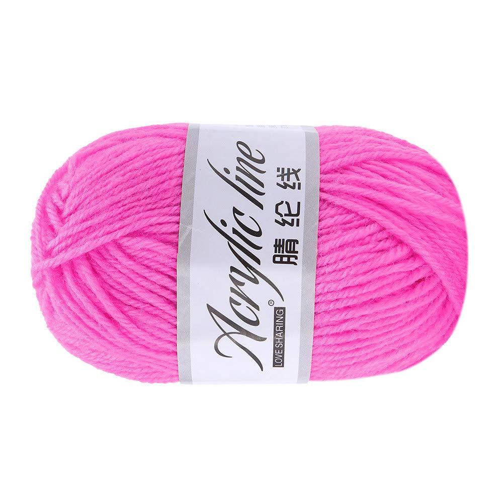 Hunpta 50/g Roving Laine /épaisse /Écharpe Fil de laine /à tricoter Fil /Épaisseur chaud Chapeau C Pelote de laine