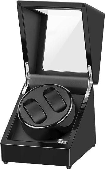 Uhrenbeweger Uhrenbox Uhrenkasten Automatikuhr Schwarz Holz Uhrendreher 4 Uhren