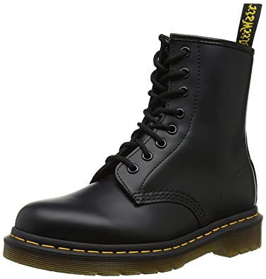 7f0a570e5d02 Dr. Martens 1460 Originals 8 Eye Lace Up Boot, Black Smooth Leather, 7UK