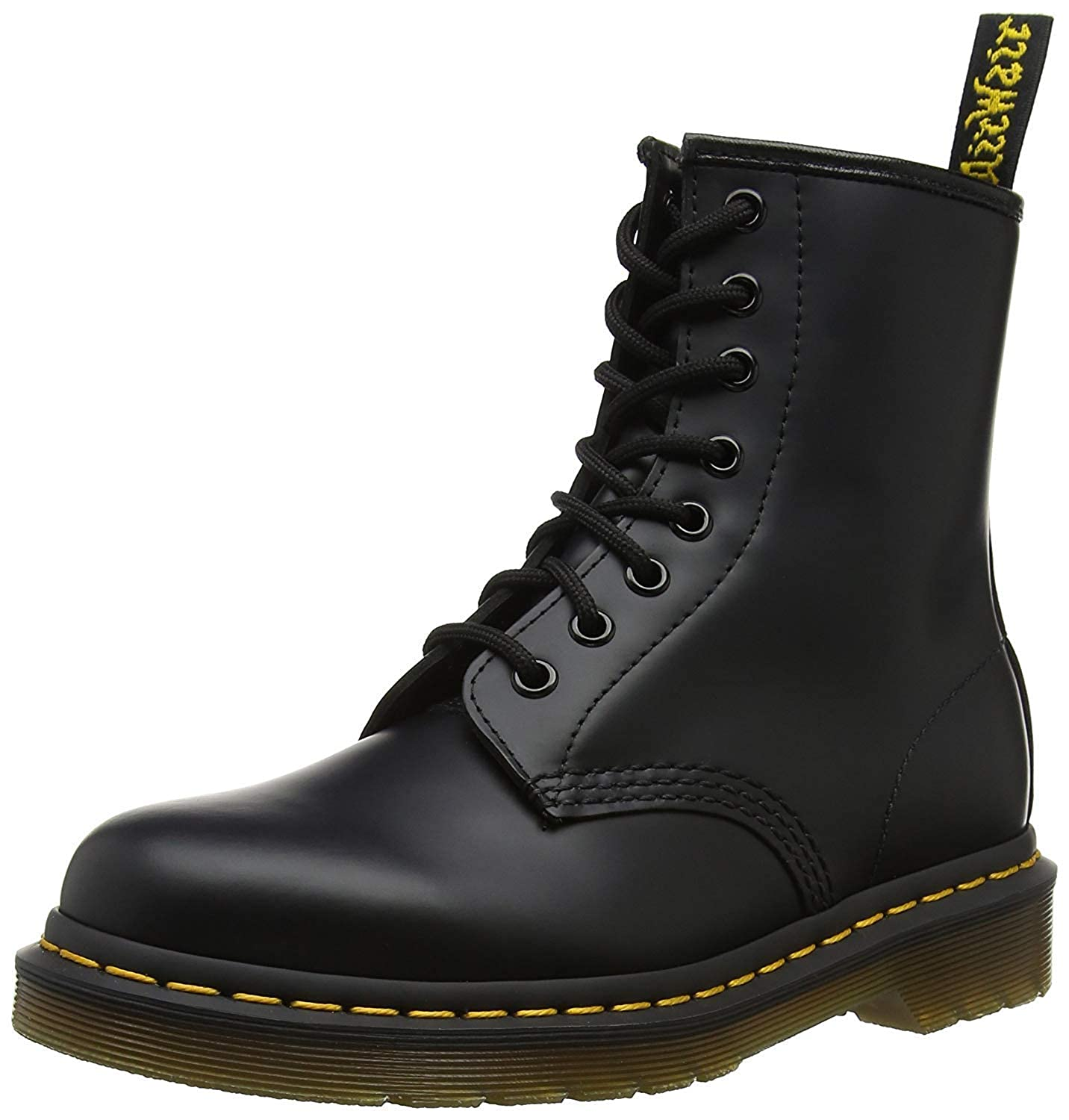 Black (Black Smooth) Dr. Martens 1460 Originals Eight-Eye Lace-Up Boot