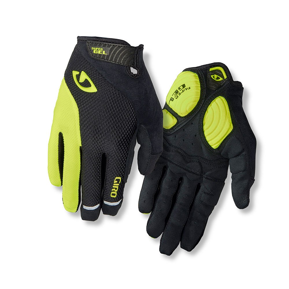 Giro Strade Dure SG LF Cycling Gloves Black/Highlight Yellow Small by Giro