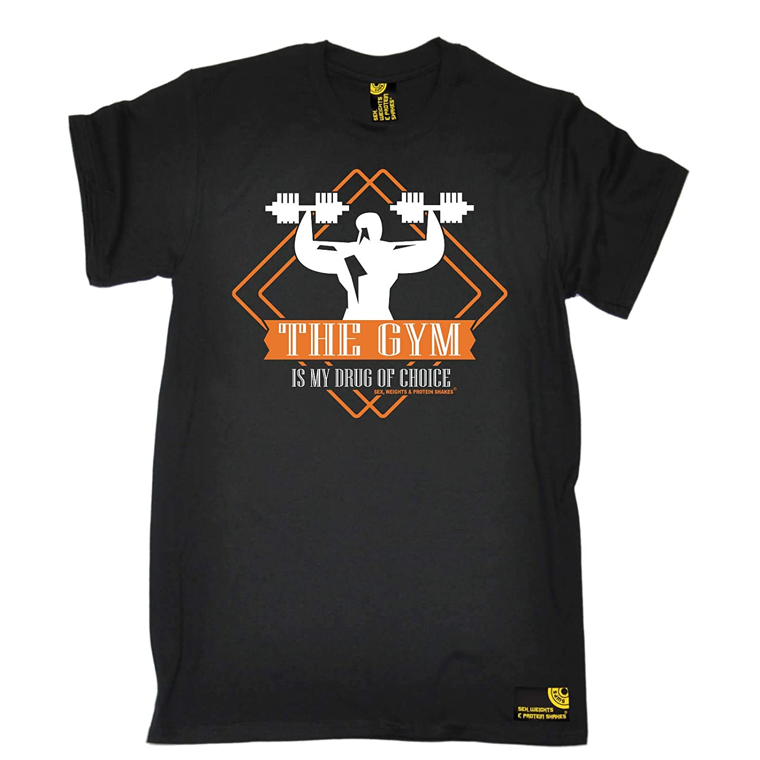 Lifting Is My Drug Of Choice MENS SWPS T-SHIRT birthday workout gym training