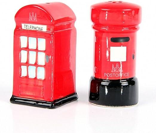 Post /& Telephone Box Ceramic London Salt /& Pepper Set