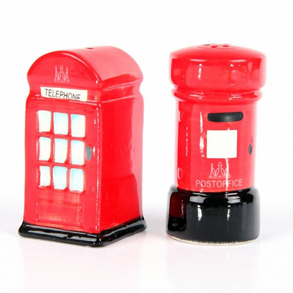 Ceramic London Salt and Pepper Set, Post and Telephone Box Puckator LON03 FG-PKT330