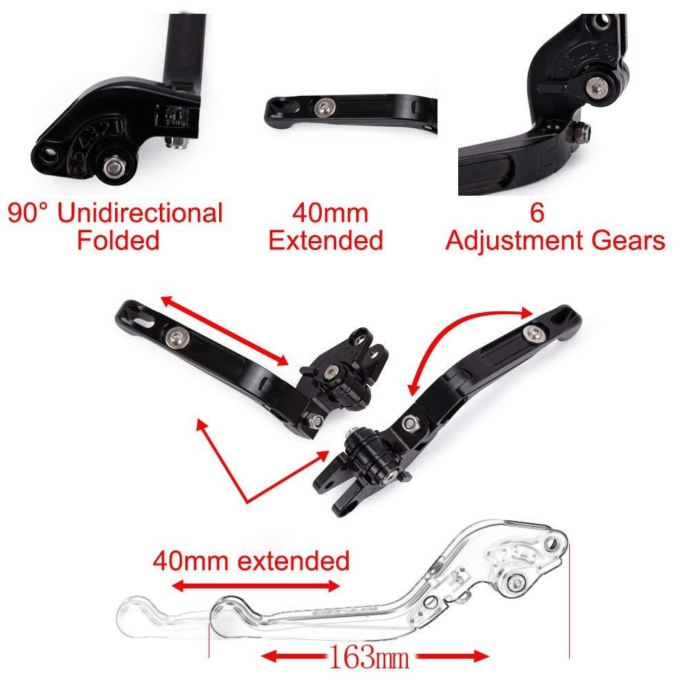 GSXR 600 750 1000 Brake Clutch Levers Foldable Extendable CNC Motorcycle Accessories For Suzuki GSXR1000 GSXR 1000 2009-2016 GSXR600 GSXR750 2011-2016