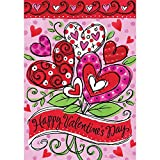 Valentine's Hearts – Standard Size, Decorative Double Sided, Licensed and Copyrighted Flag – MADE IN USA by Custom Decor Inc. 28 Inch X 40 Inch approx. Review