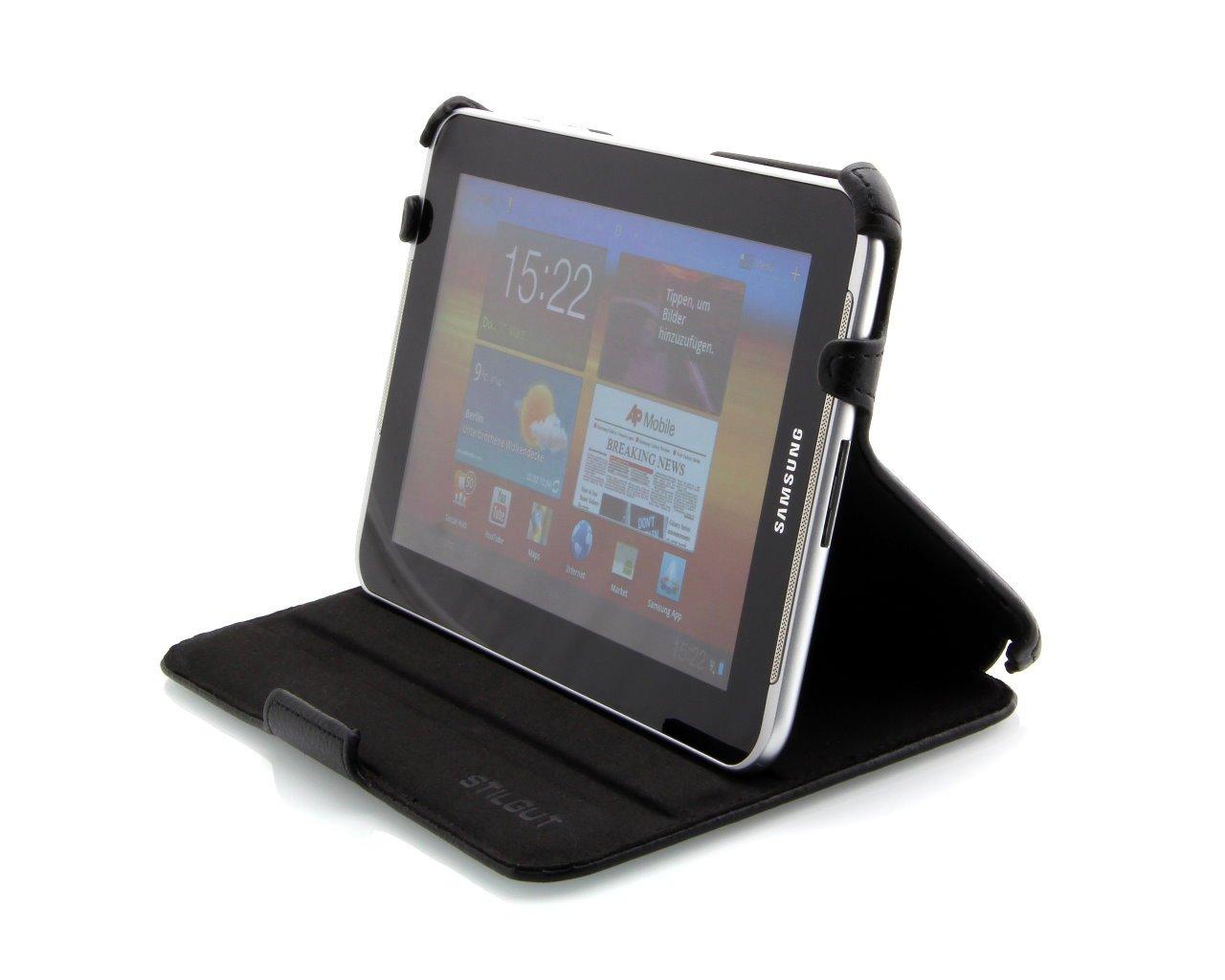 StilGut UltraSlim Case, Funda con Funcion de Soporte para el Original Samsung Galaxy Tab 2 7.0, Negro