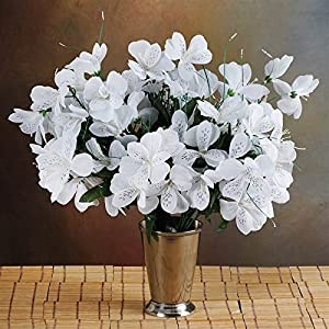 144 Wholesale Artificial Silk Amaryllis Flowers Wedding Vase Centerpiece Decor - White 6
