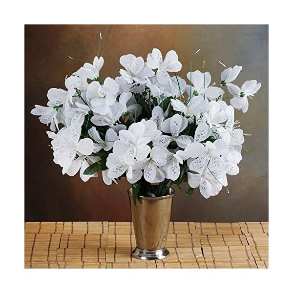 144-Wholesale-Artificial-Silk-Amaryllis-Flowers-Wedding-Vase-Centerpiece-Decor-White