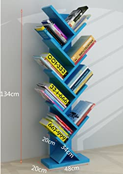 CJH Floor-Standing Two-Story Combination Childrens Bookshelf Modern Minimalist-Creative Carved Book-Cases Nursery Picture Book Display Stand Pink