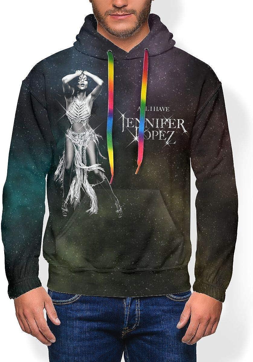 Jennifer Lopez Mens Hoodies Winter Heavyweight Basic Sweatshirt