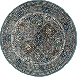 Art Carpet Arabella Collection Comfort Panel Woven Round Area Rug, Round 7'10'', Blue/Gray