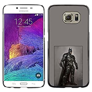 LECELL--Funda protectora / Cubierta / Piel For Samsung Galaxy S6 SM-G920 -- Bat Hero Black Costume Mask Art Painting --