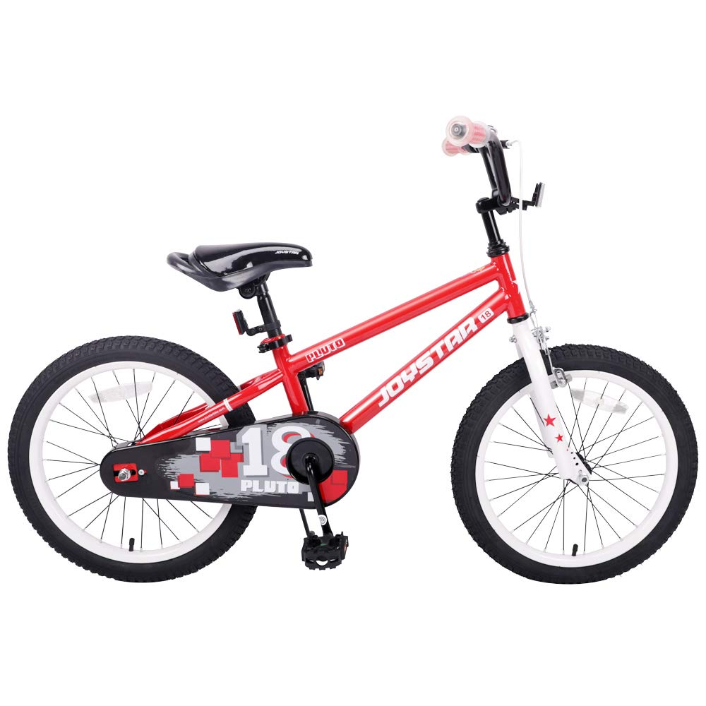 JOYSTAR 18 Inch Kids Bike for 5 6 7 8 9 Years Old Girls & Boys, Unisex Child Bicycle with Kickstand, Red