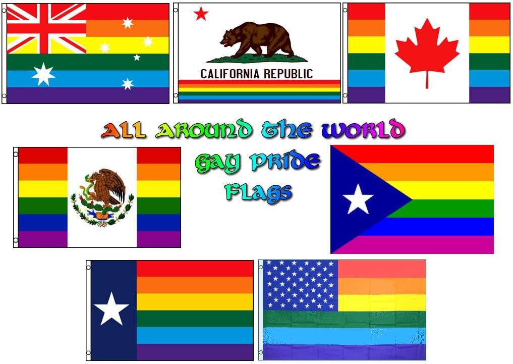 3x5 Wholesale Lot Show Your Colors Gay Pride Set Flags Flag 3/'x5/'