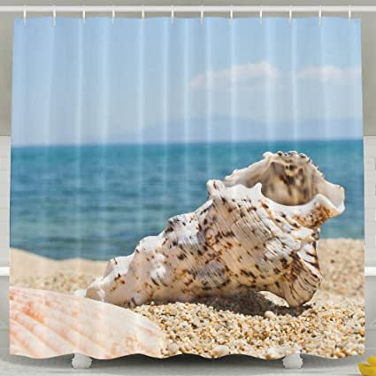Amazon SARA NELL Shower Curtainbeach Shells Sand Ocean Blue