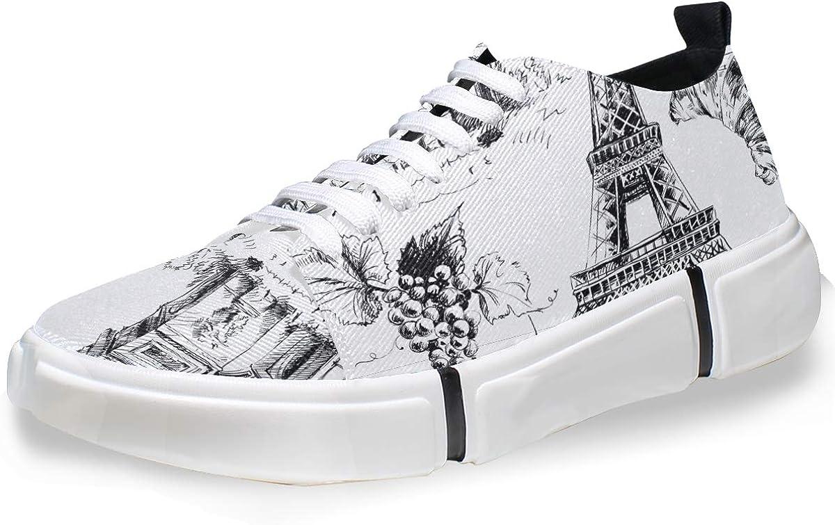 FANTAZIO Paris Sketching - Zapatillas de Running para Hombre ...