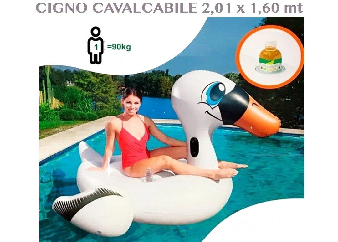 1710655 hinchable y flotador Cisne montar 2,01 MT X 1,60 cm ...