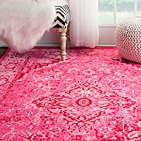 Traditional Vintage Inspired Overdyed Fancy Rug