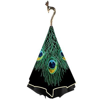 HUACANG Reverse Peacock Paraguas de Doble Capa Chica Plegables Sol Paraguas, Arte Creativo Doble Paraguas