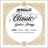 D\'Addario J3001 Rectified Classical Guitar Single String, Normal Tension, First String