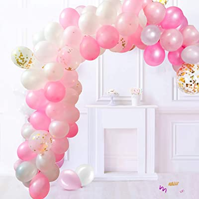 Balloon Garland Arch Kit Latex Balloons Pack for Baby Shower Weeding Birthday Bachelorette Party Backdrop Background Decorations (Pink): Toys & Games