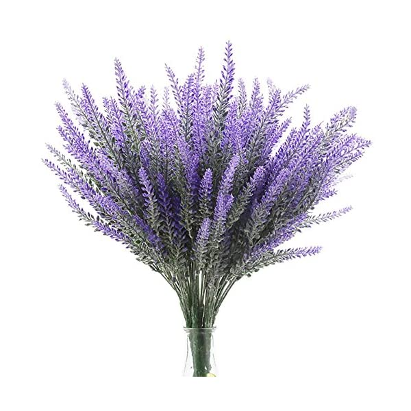 DECORA-Artificial-Flocked-Lavender-Bouquet-Flower-for-Mothers-Day-Home-Decorations