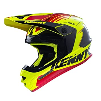 Casco Cross Kenny Track Negro Rojo Amarillo Neón – Kenny 2016