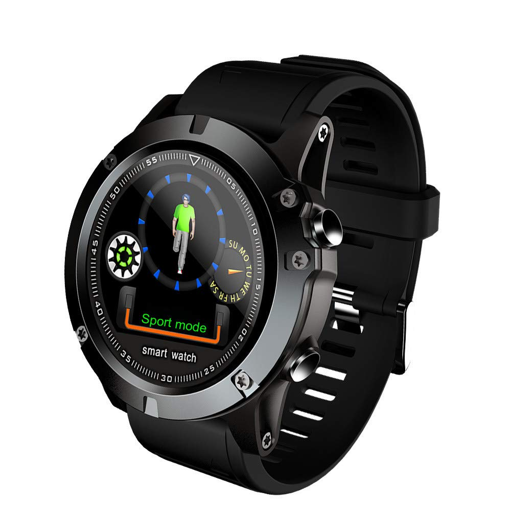 Cywulin Smart Watch Fitness Tracker, IP68 Waterproof Sport Wristband Color Screen Activity Tracking Camera Control Heart Rate Sleep Monitor Pedometer Calories for iOS Android Men Women (Black)