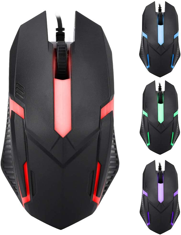 1600DPI Anti-Fall Durable Material with Portable Design Mini Size Light Weight Comfortable Handfeel for Gaming Notebook Office Redxiao Wired Backlight Mouse