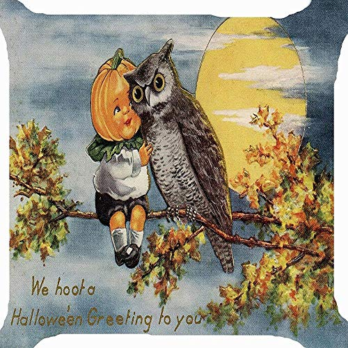 HGWXX7 Happy Halloween Pillow Cases Linen Sofa Cushion Cover Home Decor Many Color & Size Options(E-1)