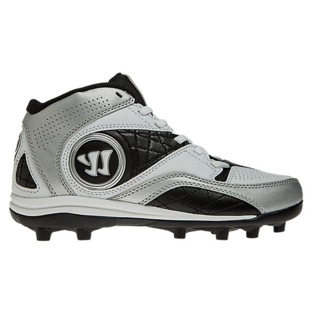 Warrior Vex 2.0 Youth White/Black Lacrosse Cleats Size 4