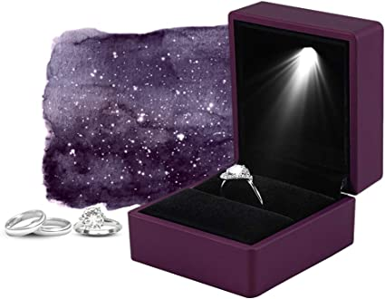 Caja de exhibición de anillos LED, caja de almacenamiento de ...