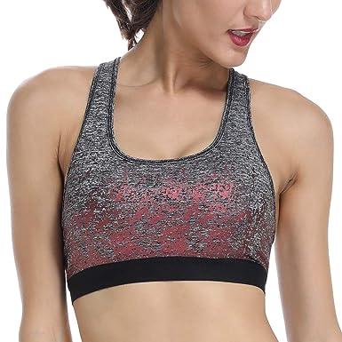 new product d5f32 5ca18 ALONG FIT Sport BH Nahtlos Damen, Bustier Push Up Komfort-BH ...