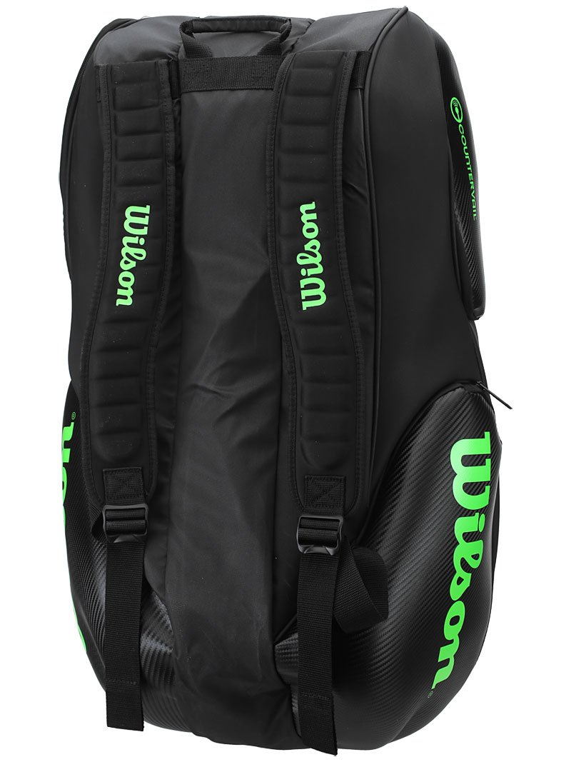 Wilson Blade Collection Racket Bag (15 Pack), Black/Green by Wilson (Image #4)