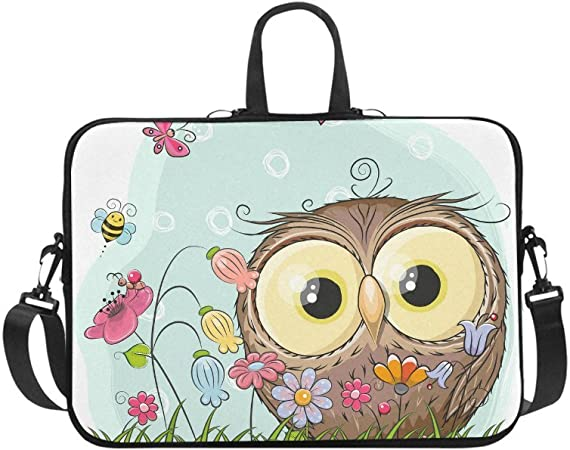 Shock Resistant Notebook Briefcase Computer Protective Bag Tablet Carrying Case for MacBook Pro//MacBook Air//Asus//Dell//Lenovo//Hp//Samsung//Sony Cartoon Flower Pattern Laptop Sleeve 17 inch
