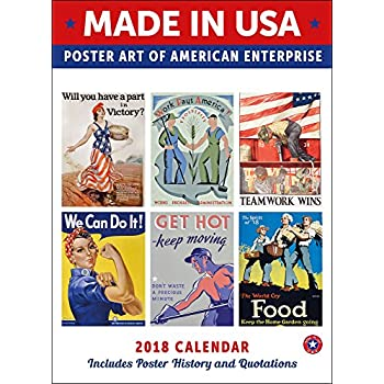 Made in USA Wall Calendar 2018 (Printed in USA)
