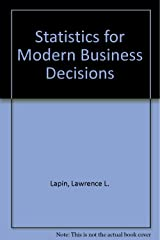 Statistics for modern business decisions Hardcover